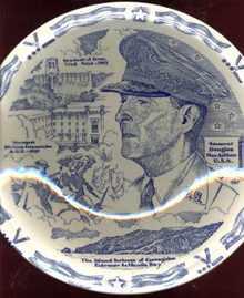 Vernon Kilns Plate Gen D MacArthur circa 1940