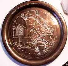 Beautiful Engraved Copper Plate Persian Gulf