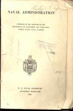 Naval Administration Annapolis 1941