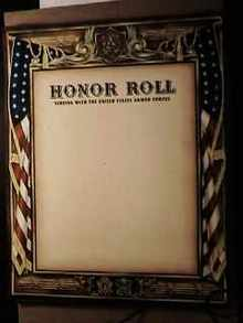 Honor Roll Poster great design unused 1942