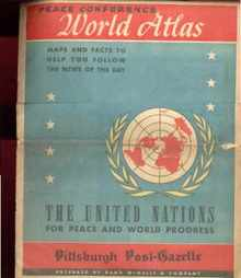 U N Peace conference world atlas 1947