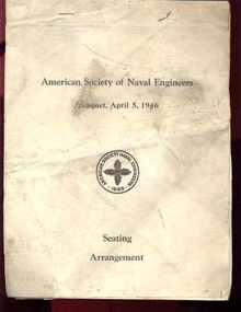 American naval engineers banquet seating 1946