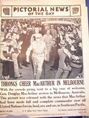 THRONGS CHEER MACARTHUR IN MELBOURNE 4/1942