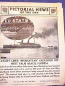 LUXURY LINER'MANHATTAN'GROUND JANUARY 15,1941