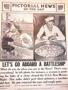 LET'S GO ABOARD A BATTLESHIP OCT 16,1940