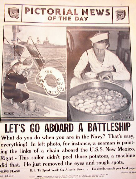 LET'S GO ABOARD A BATTLESHIP OCT 16,1940