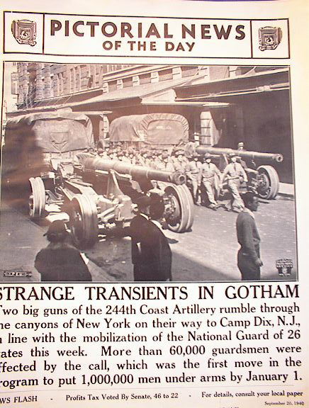 STRANGE TRANSIENTS IN GOTHAM SEPT 20,1940