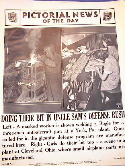 DOING THEIR BIT IN UNCLE SAM'S DEFENSE RUSH