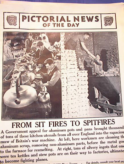 FROM SIT FIRES TO SPLITFIRES    SEPT 27, 1940