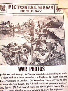 WAR PHOTOS FROM DEC 25,1940 GREAT SHOOTS