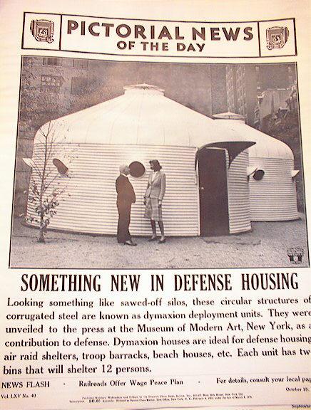 DYMAXION HOUSES RAID SHELTERS PHOTO 1941