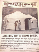 DYMAXION HOUSES RAID SHELTERS PHOTO 1941