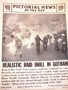 REALISTIC RAID DRILL IN GOTHAM.PHOTO 1941
