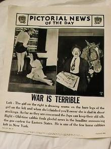 AUGUST 6,1941 WAR IS TERRIBLE HORSE CABBIE