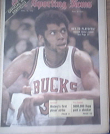 The Sporting News 4/15/1972  Kareem Abdul-Jabbar Cover