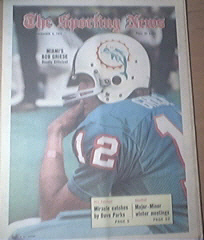 The Sporting News 12/4/1971 Miami's Bob Griese Cover