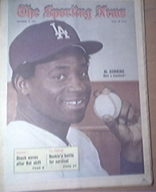 The Sporting News 10/9/1971 Al Downing Cover