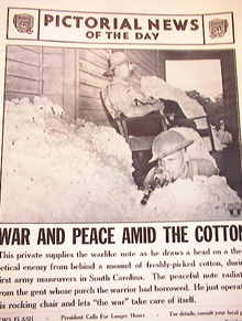 WAR AND PEACE AMID THE COTTON NOV 5,1941