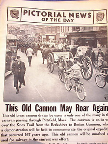 OLD BRASS CANNON DRAWN BY OXEN MARCH 25,1941