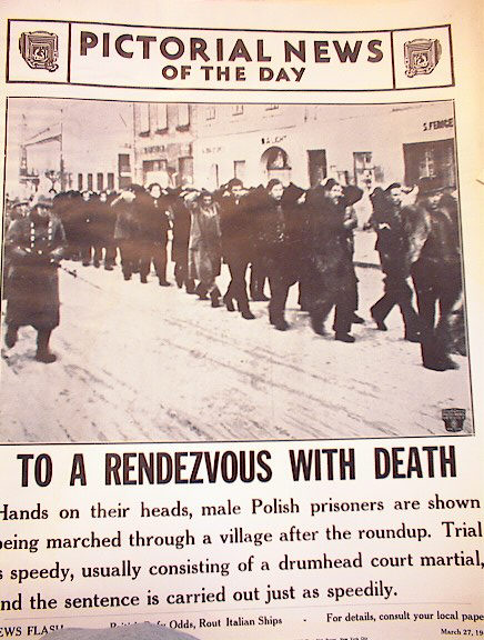 TO A RENDEZVOUS WITH DEATH MARCH 27,1941