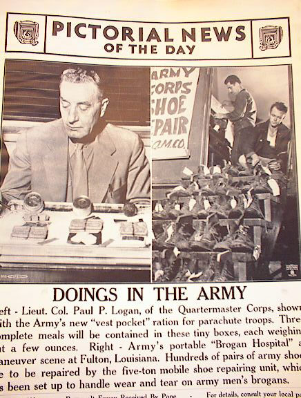 SPLIT PHOTO OF DOINGS IN THE ARMY 9-12-1941