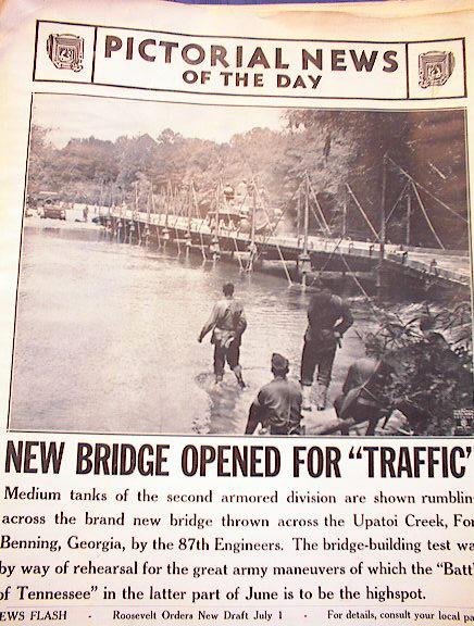 PHOTO OF MEDIUM TANK 2nd DIVISION MAY 28,1941