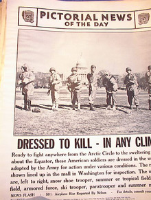 PHOTO OF SEVEN DIFFERENT UNIFORMS  3-18-1942