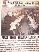 FIRST BOMB SHELTER LUNCHEON PHOTO 3-6-1942