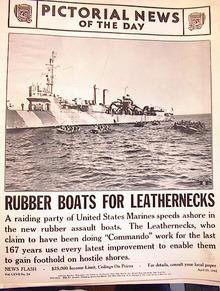 RUBBER BOATS FOR LEATHERNECKS  APRIL 29,1942