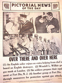 OVER THERE AND OVER HERE WAR PHOTOS 1-31-1941