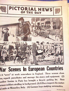 WAR SCENES IN EUROPEAN COUNTRIES 12-13-1940