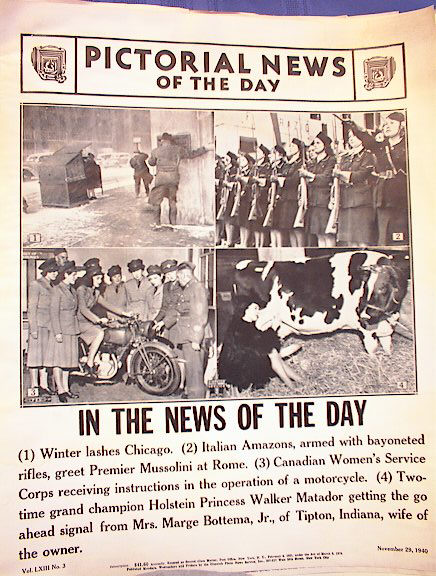 CANADIAN WAR WOMEN CORPS  NOVEMBER 29,1940