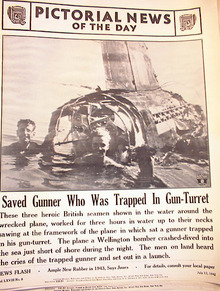PHOTO OF A GUNNER WHO WAS TRAPPED IN WRECK