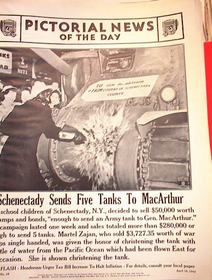 SCHENECTADY SEND FIVE TANKS TO MCARTHUR PHOTO