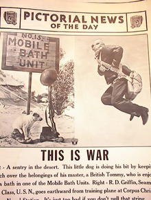 THIS IS WAR A PHOTO OF MOBILE BATH UNIT 1942