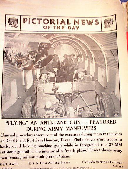FLYING AN ANTI-TANK GUN APRIL 2,1941