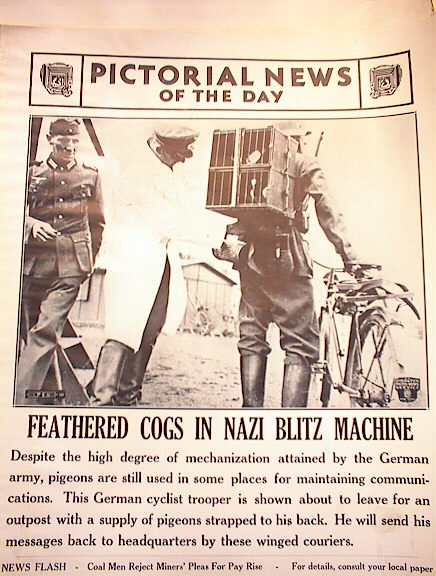 FEATHERED COGS IN NAZI BLITZ MACHINE 3-14-41
