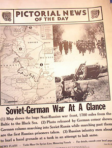 PHOTO IS OF NAZI RUSSIAN WAR FRONT MAP