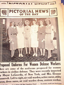PHOTO OF UNIFORMS FOR WOMEN DEFENSE WORKERS