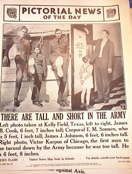 THERE ARE TALL AND SHORT IN THE ARMY 5-11-41