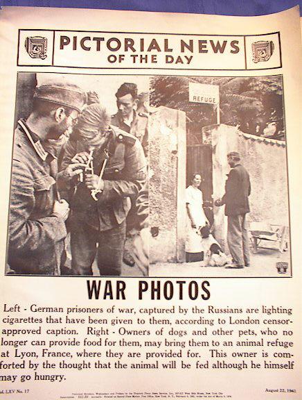 PHOTO OF GERMAN WAR PRISONERS  AUGUST 22,1941