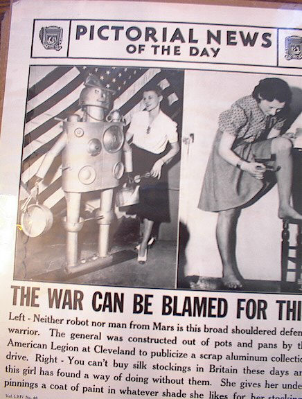 THE WAR CAN BE BLAMED FOR THIS PHOTO 1941