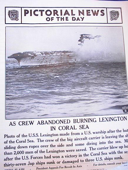 PHOTO OF CREW ABANDONED BURNING LEXINGTON