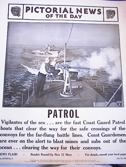 PHOTO OF COAST GAURD PATROL CLEARING THE WAY