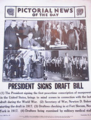 PRESIDENT SIGNS DRAFT BILL PHOTO 1940