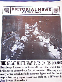 ARMY ORDER DIMMED-OUT BROADWAY PHOTO 5-20-42
