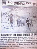 PARA-SKIERS GET THEIR BAPTISM OF SNOW 1942