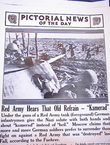 RED ARMY HEARS THAT OLD REFRAIN'KAMERAD'PHOTO