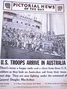 PHOTO OF U.S. TROOPS ARRIVE IN AUSTRALIA 1942
