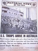 PHOTO OF U.S. TROOPS ARRIVE IN AUSTRALIA 1942